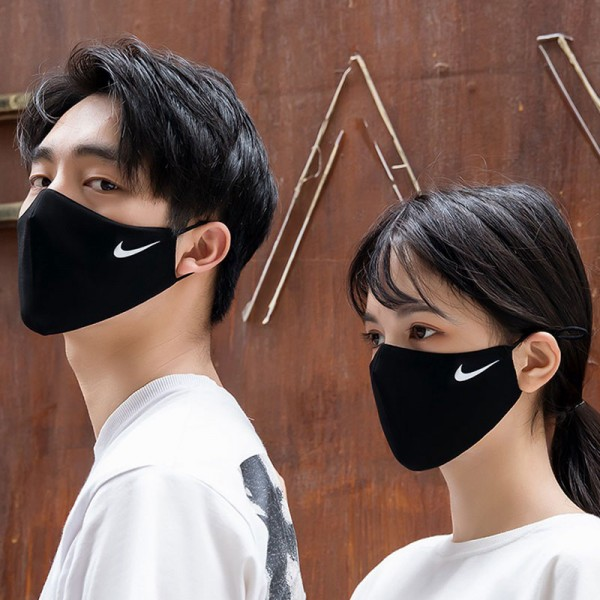 Nike Brand Mask In Stock Cheap Winter Fake Corona Mask Men's Same Day Shipping Sports Mask Dust Prevention Cold Cold Pollen Mask NIKE Adjustable Black Mask Solid Multifunctional Commercial Mask Women's Fashion