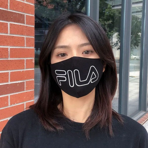 Brand Luxury FILA Cotton Face Black White Cloth Breathable Protective Washable Reusable Masks Sport Luxury Washable Coronavirus Mask for Kids Adults