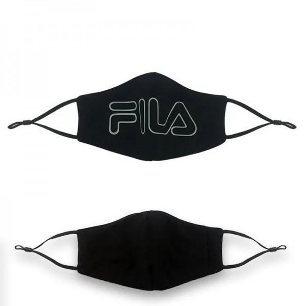 Brand Luxury FILA Cotton Face Black White Cloth Breathable Protective Washable Reusable Masks Sport Luxury Washable Coronavirus Mask for Kids Adults