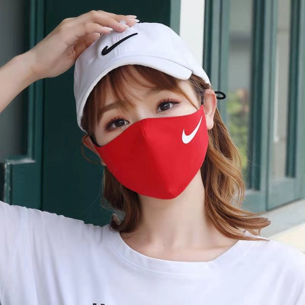 Brand Supreme Puma NY Washable Nike Champion Reusable Red Sport Cloth Masks Soft Cotton Face Corona,for Children Kids Instant Delivery