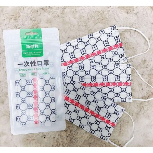 Luxury Brand Chanel LV Dior Face PM2.5 Disposable Masks D&G Gucci Breathable Facial Surgical Covers For Kids Adults