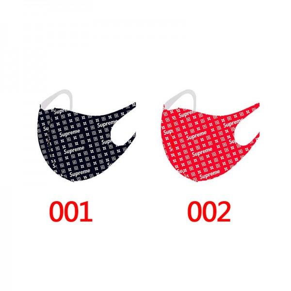 Supreme brand reusable mask, fashionable Supreme monogram pattern washable mask n95 protective cotton cloth mask.