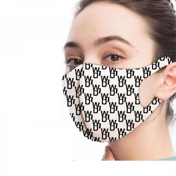Balenciaga brand reusable masks fashion monogram pattern soft skin-friendly washable mask n95 level protective mask