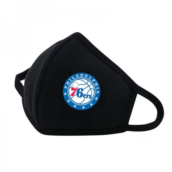 NBA basketball team pattern washable mask winter cold mask NBA outdoor soft skin-friendly sports mask dust-proof, anti-bacterial wind-proof mask