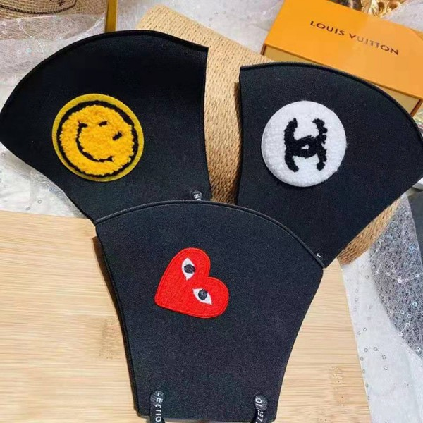 Chanel brand face mask cute smile face mask Rei Kawakubo Cotton Fit design washable mask anti-bacterial anti-COVID-19 virus protection n95 mask
