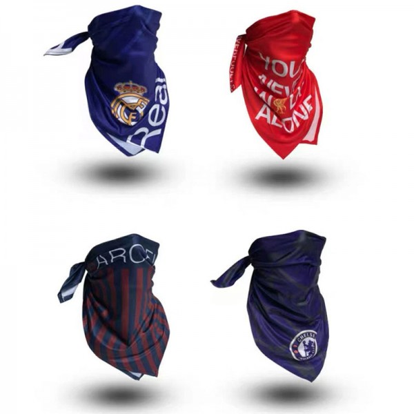 Football dust mask brand sports football square towel bicycle outdoor multi-function square towel washable face mask