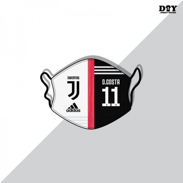 Adidas brand Juventus Club cristiano Ronaldo jerseys can be washed and reused masks Fashion trend masks dust and PM2.5 anti-bacterial protective masks.