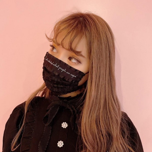 Fashion lace masks Fashion ladies masks Black washable masks, dust and splash protective masks, reusable masks