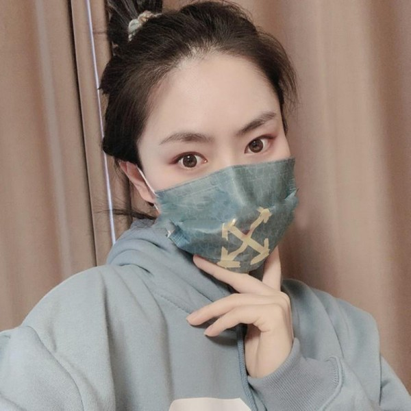 OFF-WHITE disposable mask brand non-woven fabric structure mask soft, skin-friendly, breathable, washable reusable mask, dust-proof, bacteria-proof and anti-coronavirus protective mask