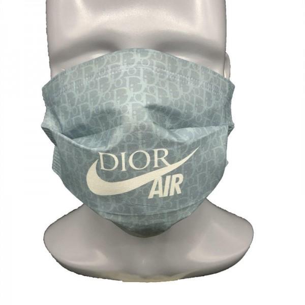 Nike co-branded Dior fashion disposable mask fashion monogram pattern design fashion trend mask anti-bacterial anti-COVID-19 coronavirus protection n95 mask