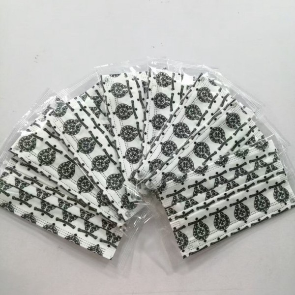 Chrome Hearts brand disposable mask Dust-proof and antibacterial COVID-19 coronavirus protective mask Chrome Hearts brand monogram pattern.