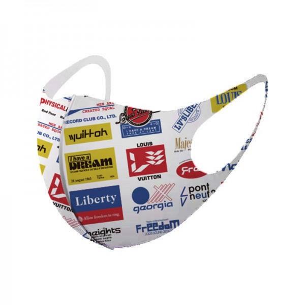 Fashion disposable medical mask supreme Nike brand logo pattern medical mask with n95 level protection effect