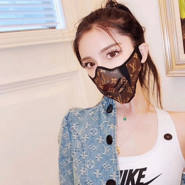 LV Leather Face Mask Gucci 2021 Spring Disney Masks Covid Protected Mouth Mask Cartoon Character Minnie Mouse GG Facemask Filtered