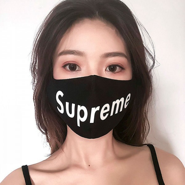 Supreme reusable pure cotton cloth protective facial mask universal masks for man women kid in Autumn Winter with INS