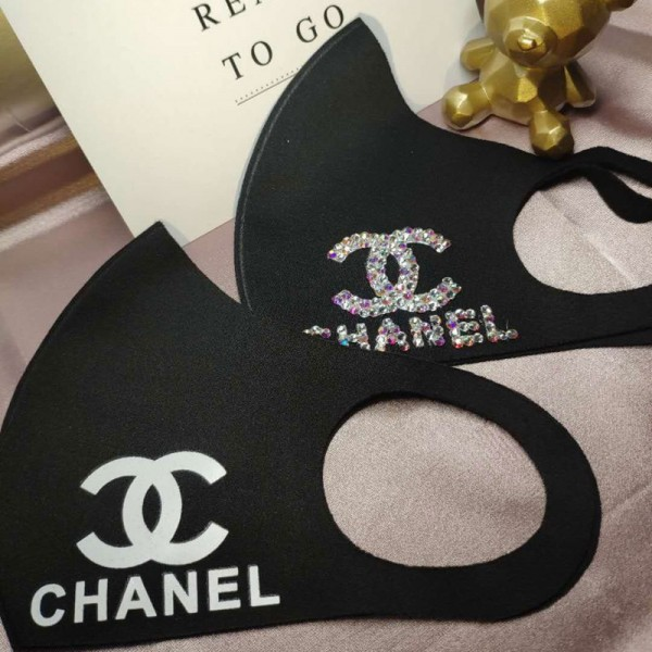 Chanel Logo Face Masks COCO Custom Cloth Facemask Black White Symbol Mask Covers Personalized Mouth Coverings Winter Stylish Women's Men's Fashion