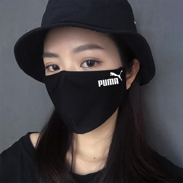 PUMA NIKE CHANPION MLB Supreme Luxury Brand Logo Masks Black Custom Made Face Masks Coronavirus Mask 100% Authentic Personalized Reusable Washable