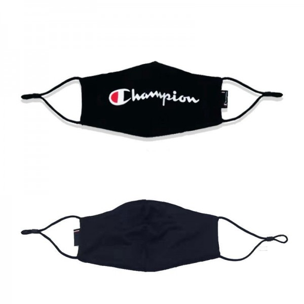 Champion Solid Face Masks Reusable Black Cotton Mask Coronavirus Facemask Men's and Women's Fashion Mask Adult Fabric Wicking Mouth Coverings