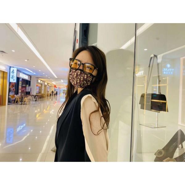 Christian Dior Monogram Face Mask Cheap Fashion Cloth Masks Reusable Handmade Cloth Mouth Masks Women's Men's Streetwear Equipment Black Blue Red Colors
