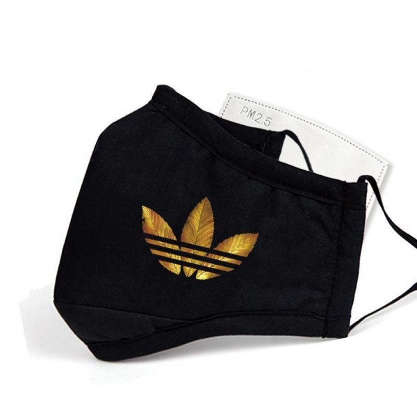 Supreme Adidas Branded Masks PM2.5 Face Mask Fliter Paper Reusable Unisex Mask with Value Anti Air Pollution Cloth Masks Washable