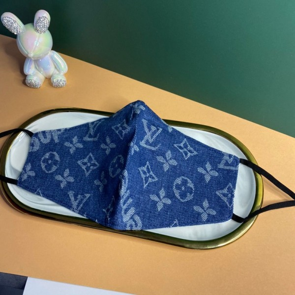 Louis Vuitton monogram handmade cloth mask, washable mask, anti-ultraviolet, anti-virus, premium brand mask, soft and does not hurt your ears