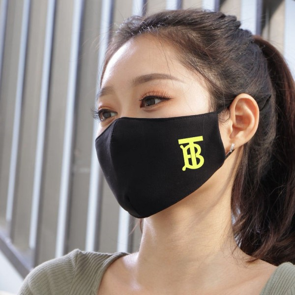 Brand Luxury Burberry Face Masks 3D Reusable Cloth Black Washable Adjustable Facemask Coronavirus Corona Prevention Covering