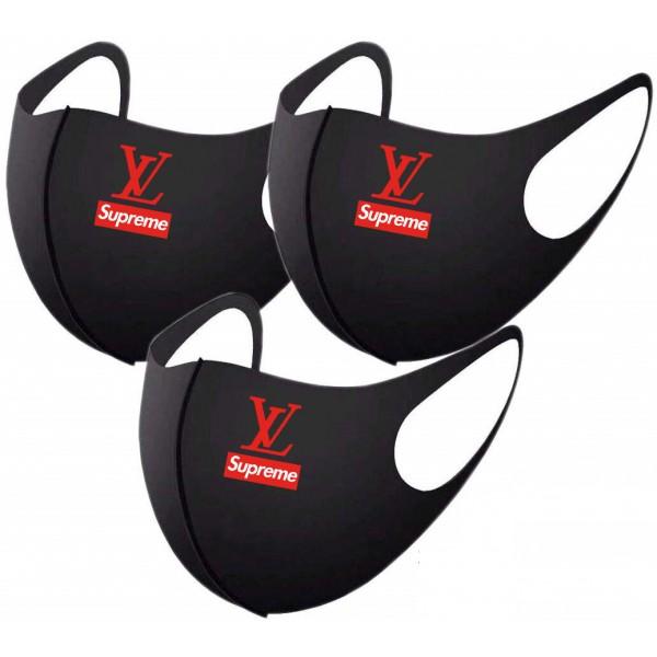 Brand Supreme LV Reusable Masks Luxury Cloth Cover Cotton Washable Mask, for Kids Adult