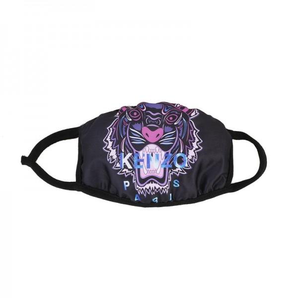 High Quality KENZO Brand Corona Protection Washable Reusable Masks Fashion Sport Cotton Cloth Breathable Facial Black Covering
