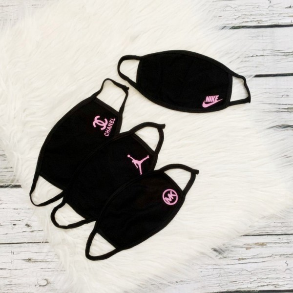 High Quality Brand Chanel Nike Jordan MK Black Washable Reusable Fashion Coverings Cotton Face Masks Sport Breathable Facial Mask