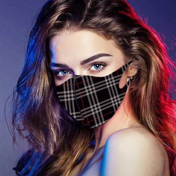 Brand Luxury Fendi Burberry LV Cloth Face Masks KAWS CDG Washable Splash Infection Prevention UV Mask Reusable Fashion Coverings
