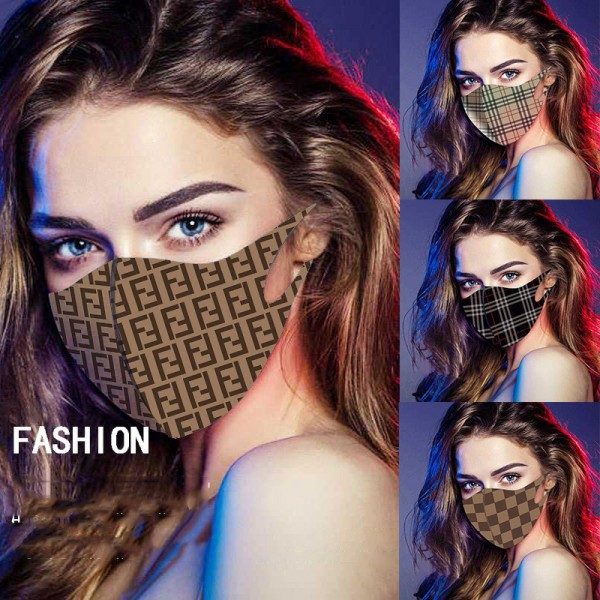 Brand Luxury Fendi Burberry LV Cloth Face Masks KAWS CDG Washable Splash Infection Prevention UV Mask Reusable Fashion Coverings