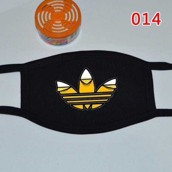 High Brand Stussy Adidas Pattern Cloth Washable Masks Black Protective Reusable Sport Breathable Fashion Mask Corona Virus Coverings,For Teens And Adults