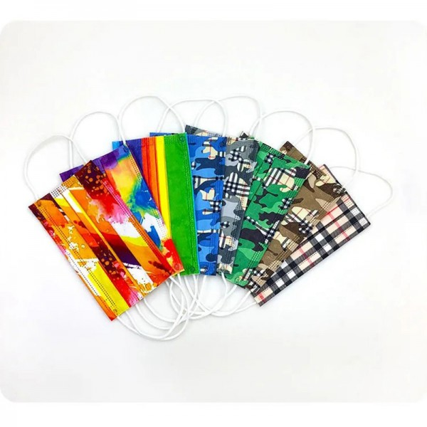 20PCS/50PCS Brand Burberry Luxury Camouflage Grid 3 Layer Filter Face Masks Surgical Disposable PM2.5 Coronavirus Protection Cover
