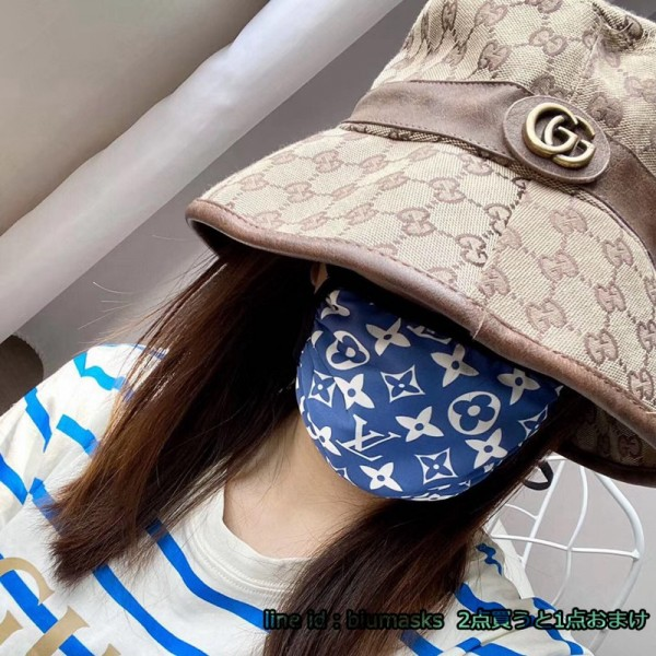 Louis Vuitton Brand Supreme Luxury Facemask Fashion Adjustable Cloth Coverings Coronavirus Protection 3 Colors Cotton Masks
