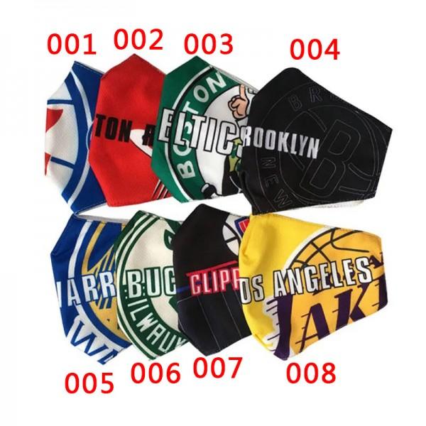Brand NBA Teams Basketball Clippers Laker Nets LeBron Kobe Sport Masks Luxury Coronavirus Cloth Cotton Washable Reusable Breathable Facial Face Covering for Teens Adults
