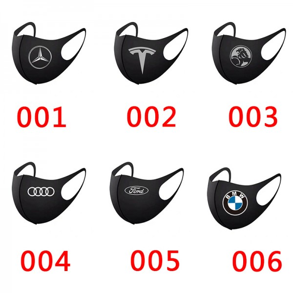 High Brand Cars BMW Audi Tesla Reusable Washable Luxury Handmade Cloth Mask Benz Ford General Breathable Corona Virus Prevetion 3D Fashion Cover,For Kids Adults