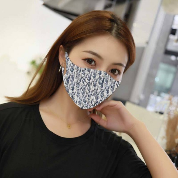 Floral Christian Dior Facemask Fashion Washable Reusable Masks for Adults Designer Cotton Face Masks 3D Breathing Mouth Coverings Women's Men's Accessories