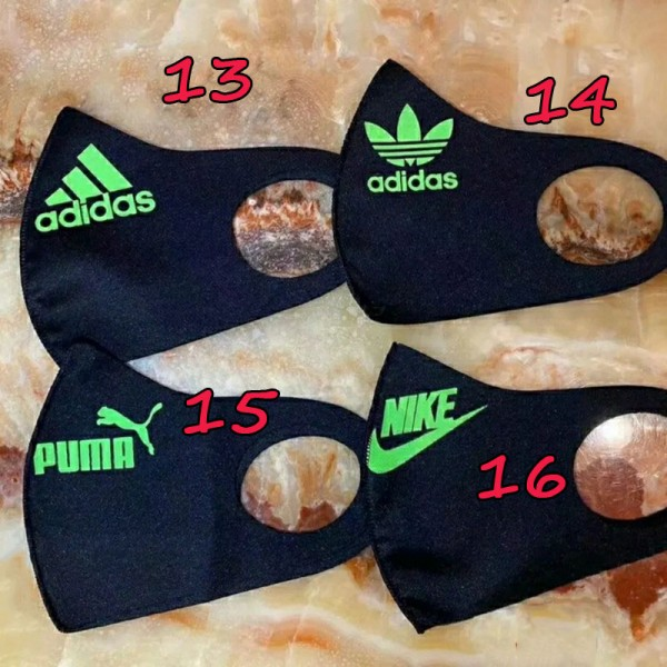 Fendi Chanel Dior Gucci LV Adidas Nike Puma Luxury Mask for Kids Adults Sustainable Washable Face Masks  Soft Cloth Logo Print Fashion Mask Coverings High Quality In Stock