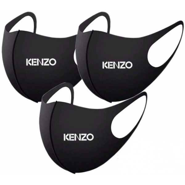 Kenzo Monogram Facemask for Kids Adults Sizes Pure Cotton Washable Mask Fashionable Masks UV Protection 100% Authentic Ultra Thin 3D Breathing