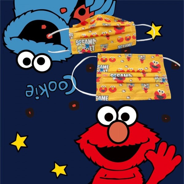 Brand Sesame Street Luxury 50PCS 3 Layer Filter Protection Face Masks Surgical Material Disposable PM2.5 Coronavirus Protection Coverings