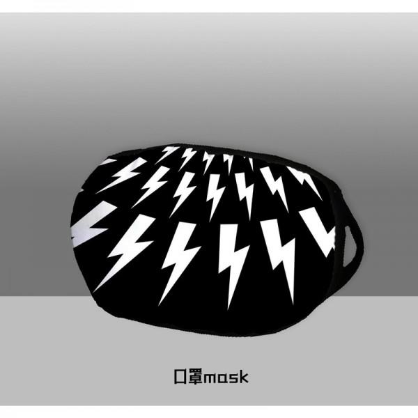 Off White Luxury Brand Supreme Camouflage Masks Black White Washable Reusable Lightning Emotions Cotton Face Coronavirus Protection Facemask