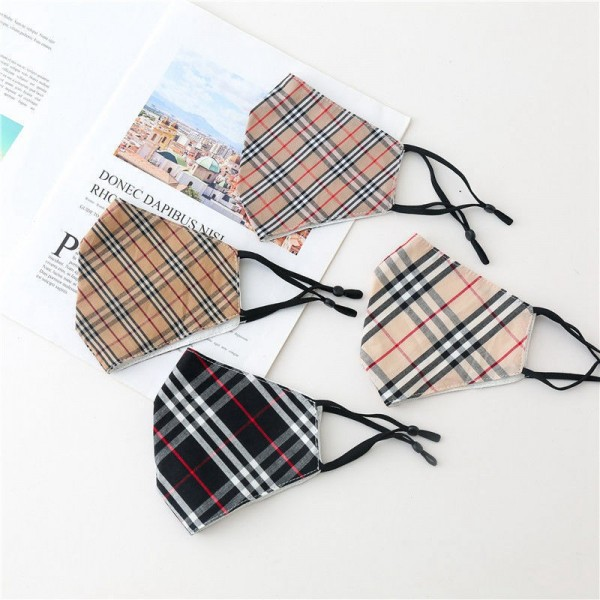 Burberry Classic Face Mask Plaid Fabric Masks Coronaviurs Reusable Washable Facemask Adult Standard Inspired Print Masque Anti-pollution