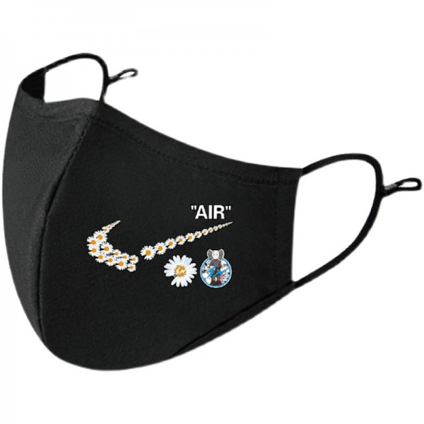 Nike brand cloth face mask 2-piece set Fashionable daisy print washable face mask trendy personality breathable reusable mask unisex