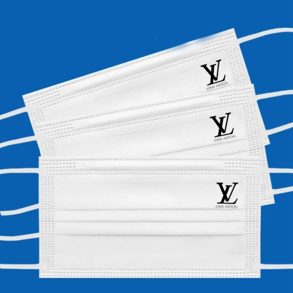 Louis Vuitton Disposable Surgical Cloth Mask High-quality Disposable Non-woven Mask White Anti-bacterial Anti-virus Anti-COVID-19 Mask