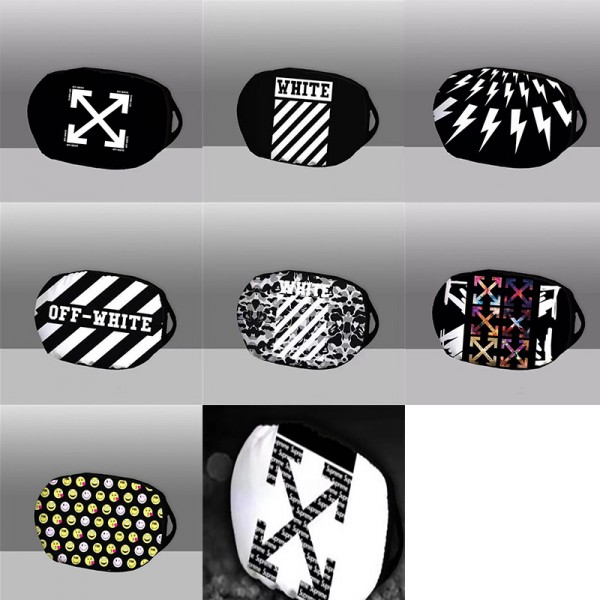 Off-White brand reusable masks Fashion logo pattern Soft, skin-friendly, breathable Antibacterial, cold and dustproof protective masks