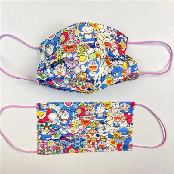 Cute Doraemon pattern disposable mask, fashionable trend mask, anti-bacterial and anti-COVID-19 virus protective mask