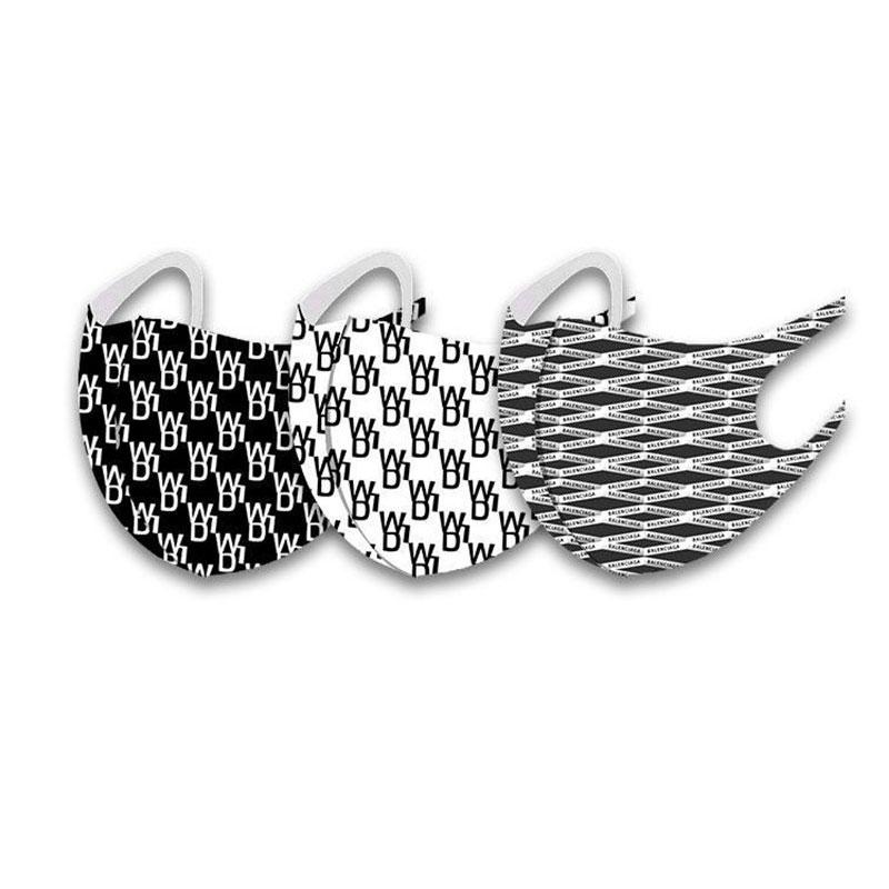 Fashion Monogram Pattern Soft Skin-Friendly Washable Mask