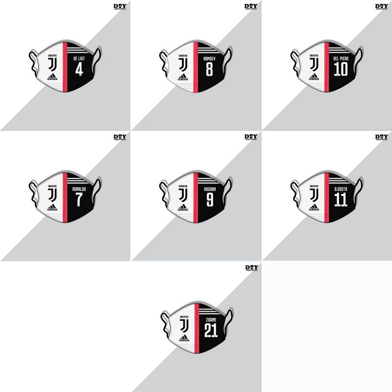 Adidas brand Juventus club masks