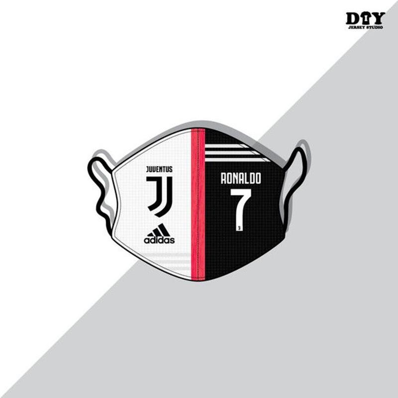 Juventus club cristiano Ronaldo jersey logo mask
