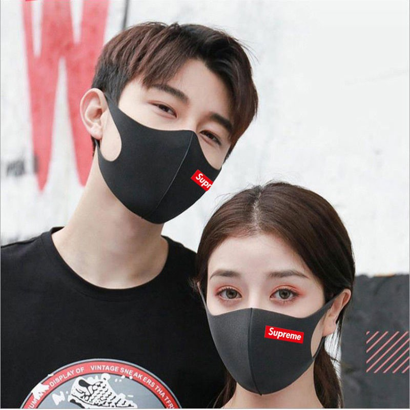 supreme face mask red