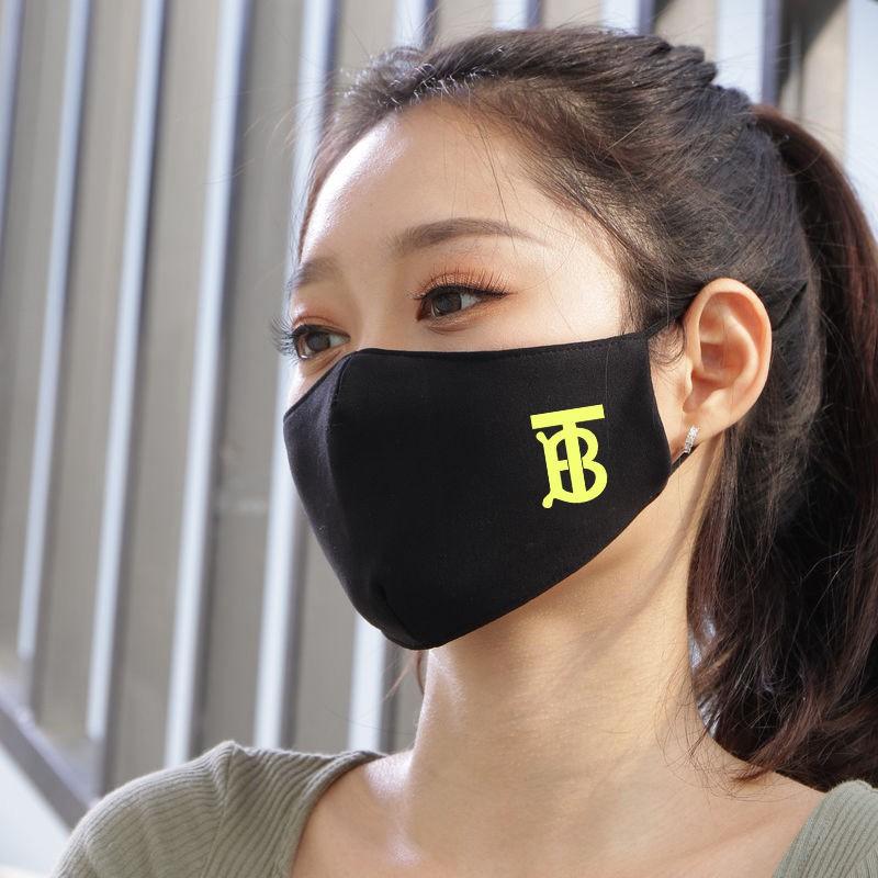 Brand Luxury Burberry 3D Reusable Cloth Black Washable Face Masks